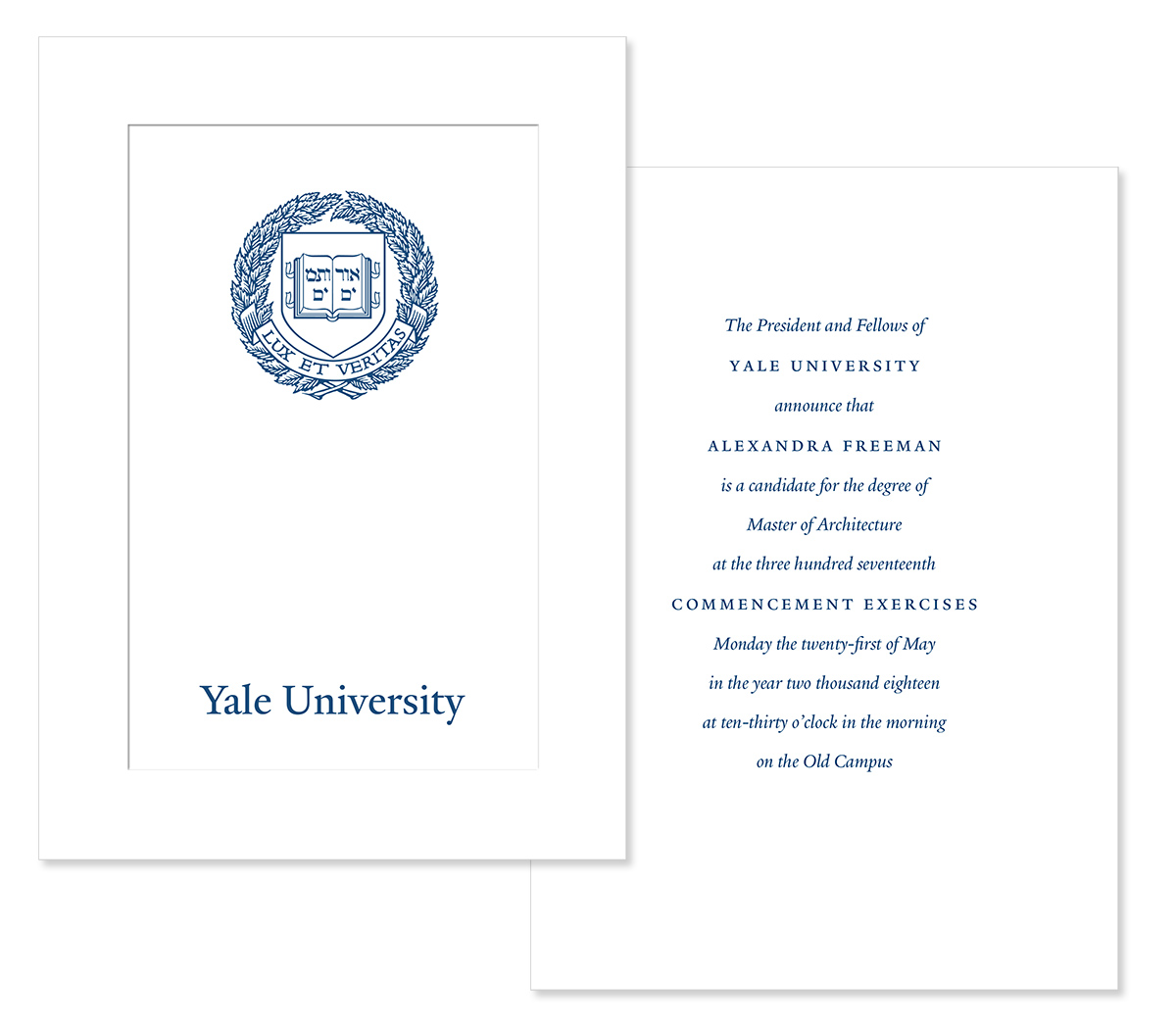 Commencement Orders | Yale Commencement